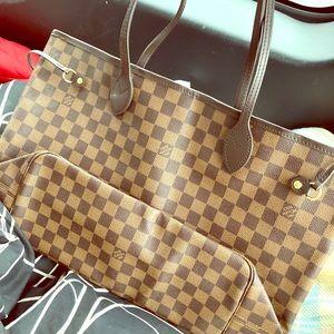 Louis Vuitton Neverfull Mm Damier Ebene Tote